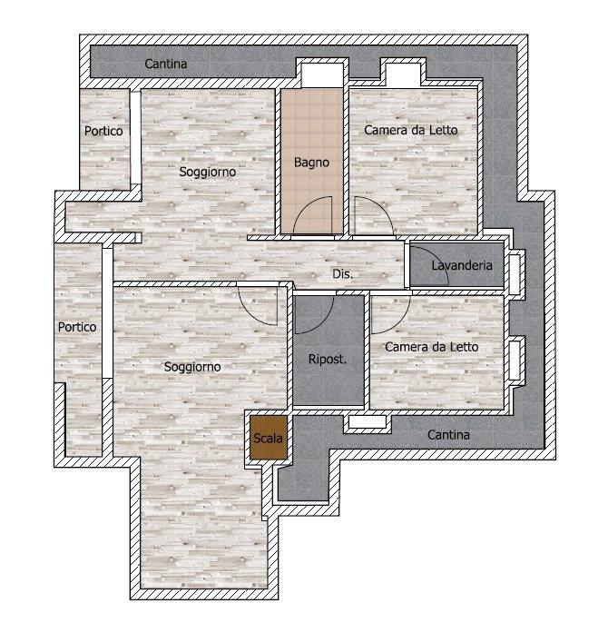 Villa nuova costruzione alto risparmio energetico for Planimetrie seminterrato